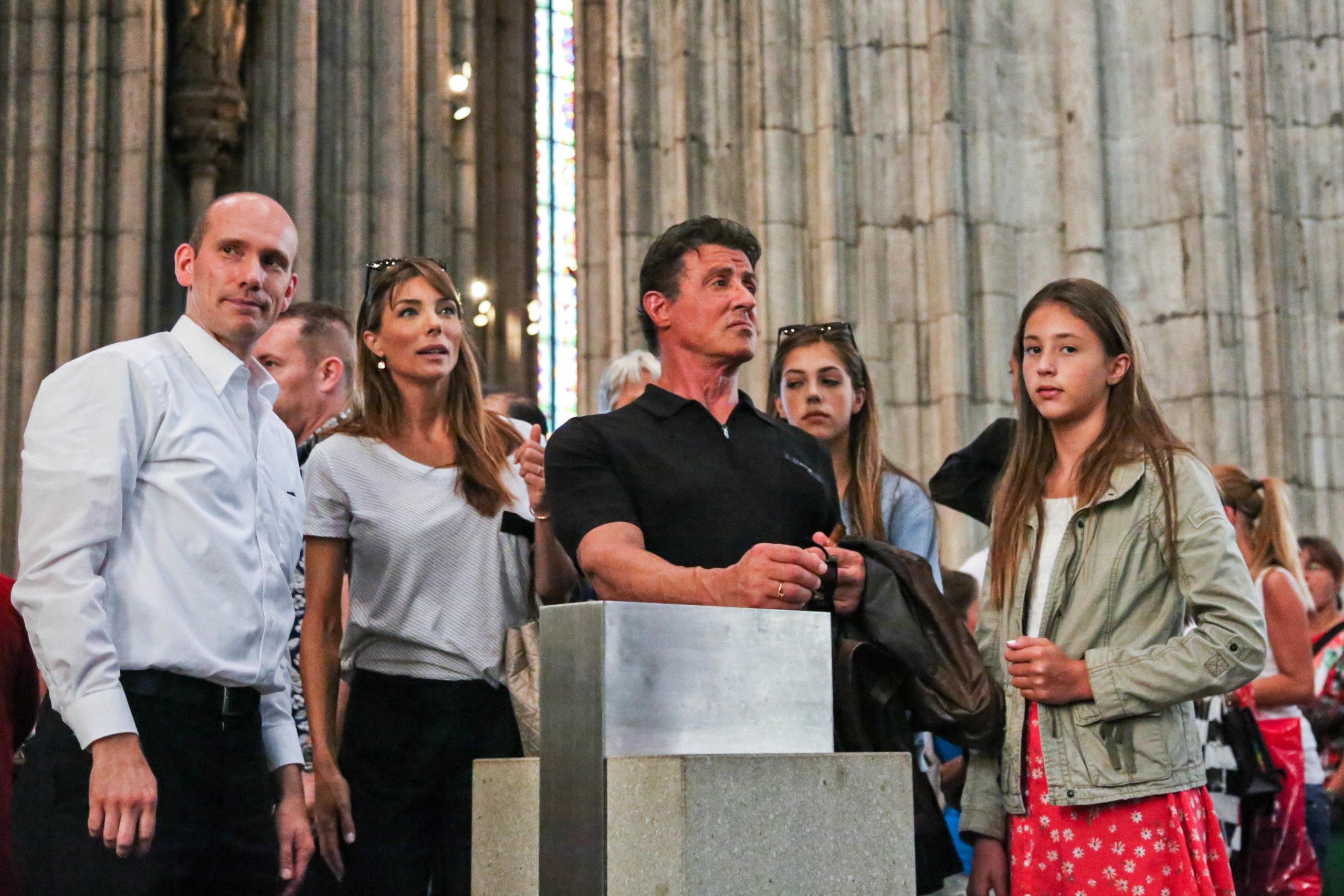 Sylvester Stallone zu Besuch im Kölner Dom